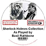 A MP3 DVD-Rom AUDIO SHERLOCK HOLMES COLLECTION AS PLAYED BY BASIL RATHBONE OVER 175 RADIO SHOWS