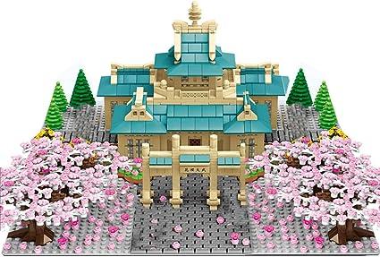 Fujinfeng 2529 Pcs Sakura Tree Building Blocks Model Set Moc Romantic Cherry Blossom Building Blocks Compatible With Lego University Amazon Co Uk Toys Games