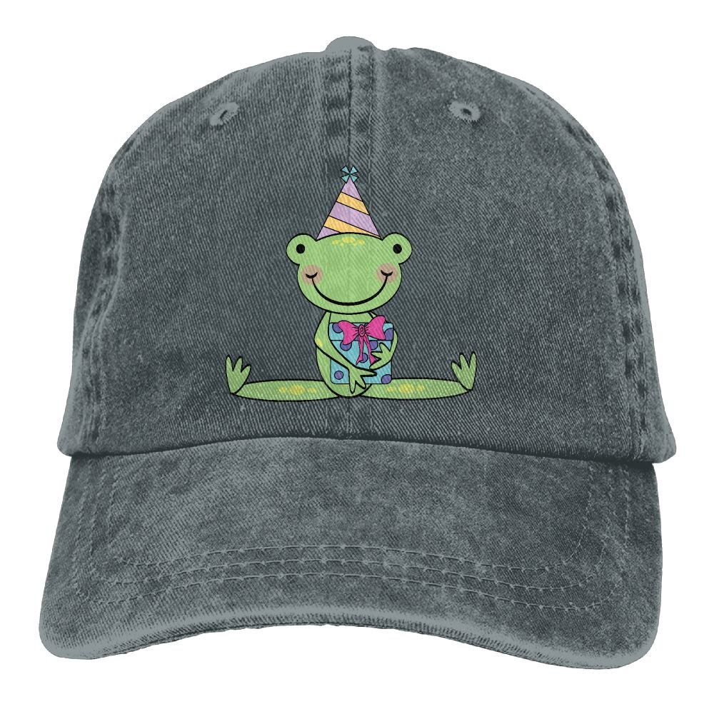 XZFQW Frog Birthday Cartoon Trend Printing Cowboy Hat Fashion Baseball Cap for Men and Women Black