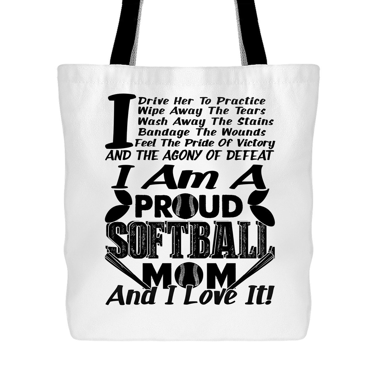 Proud Softball Mom Bag, Big Handbags For Women Big Handbags For Women (Light Green Tote Bag) Big Grey BGBGR-BREY100-LGR