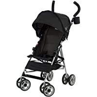 Kolcraft Cloud Lightweight Umbrella Stroller with Large Sun Canopy, Black