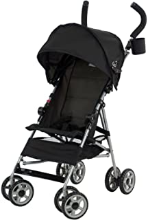 Kolcraft Cloud Lightweight Umbrella Stroller with Large Sun Canopy, Black