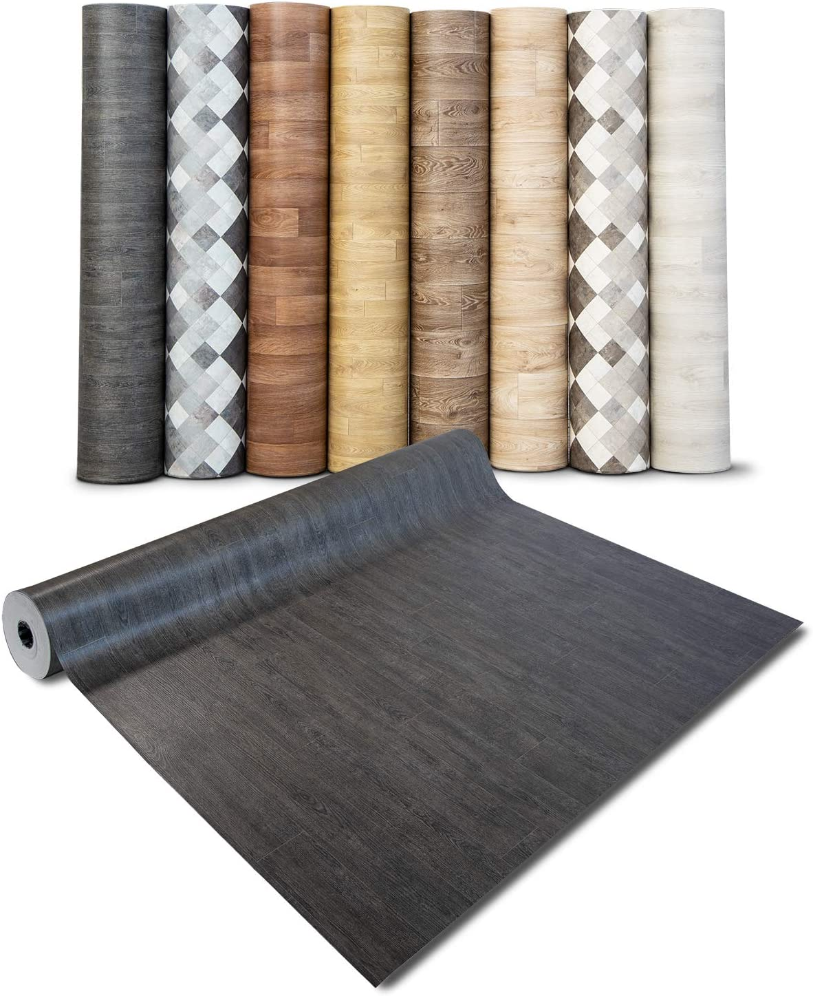 extra abriebfester PVC Bodenbelag 100x250 cm Meterware casa pura/® CV Bodenbelag Vancouver - Eiche Vintage Dunkel edle Holzoptik gesch/äumt Oberfl/äche strukturiert