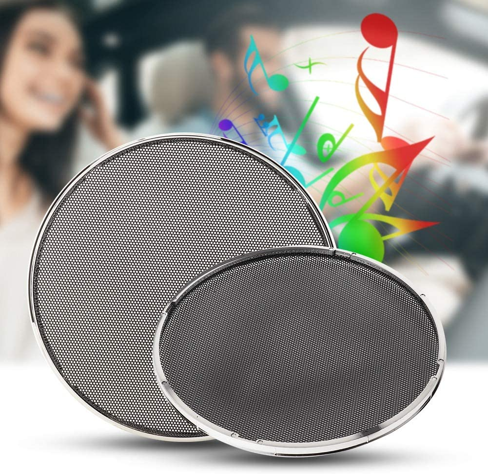 4PCS Car Modification Speaker Protective Net Loudspeaker Cover 6.5inch Electroplating Decoration Acouto Loudspeaker Cover