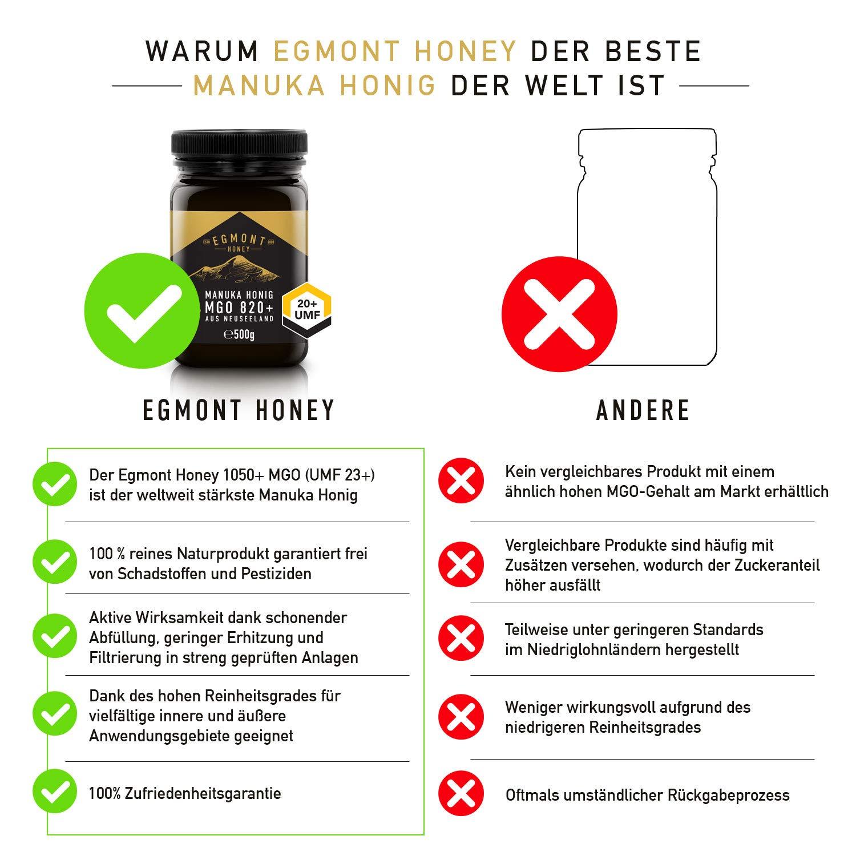 Egmont Honey Miel de Manuka 1050+ MGO original de Nueva Zelanda UMF ...