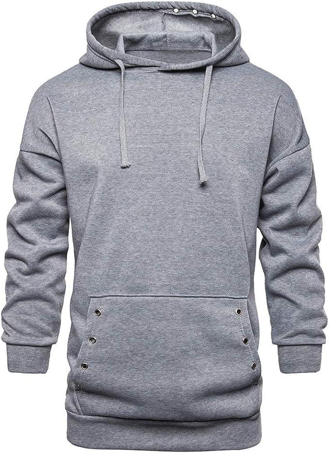 Homme Sweatshirt à Capuche Manches Longues Pulls Sweat