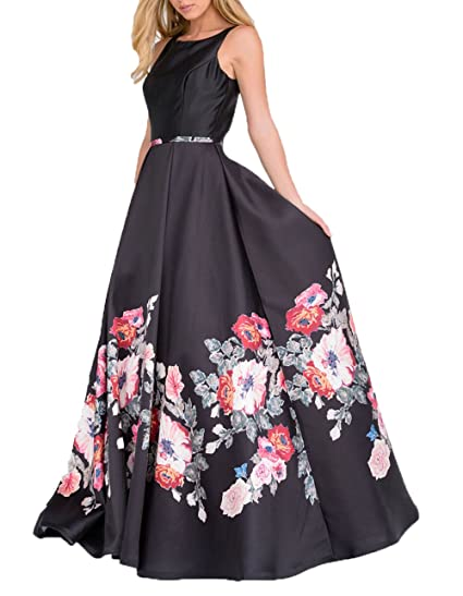 Amazon Angelcity Brides Womens Floral Sleeveless Prom Dress