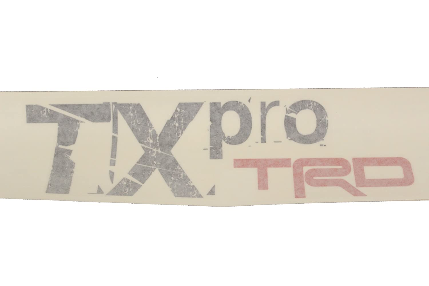 Genuine Toyota Accessories PT929-35102 Red TRD Body Graphics with TX-Pro Black Lettering