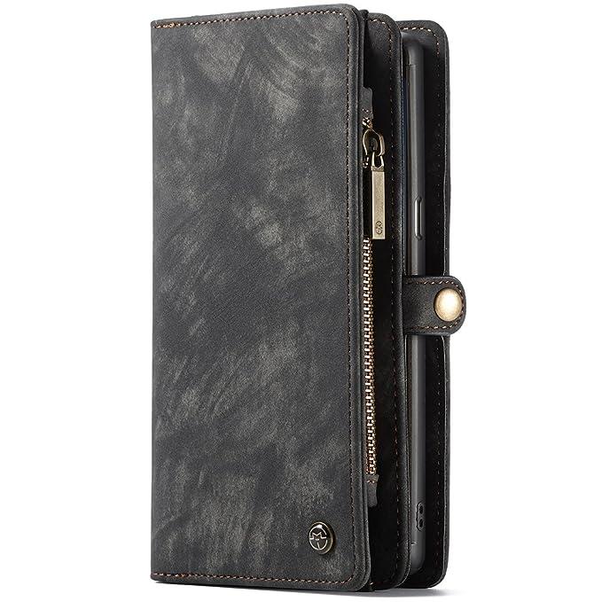 Funda Samsung Galaxy Note 8 S8 Plus Cartera cuero con ranura para tarjetas, cubierta protectora con corchete: Amazon.es: Ropa y accesorios