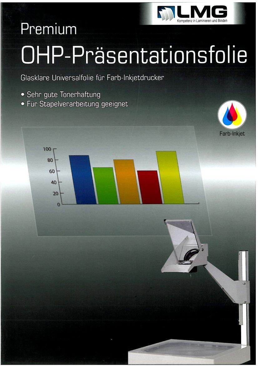 R & B LMG overheadfolie Inkjet, DIN A4, pour imprimantes à jet d'encre, 50pièces r&b Laminiersysteme LMG-OHP-TINTEN-INK