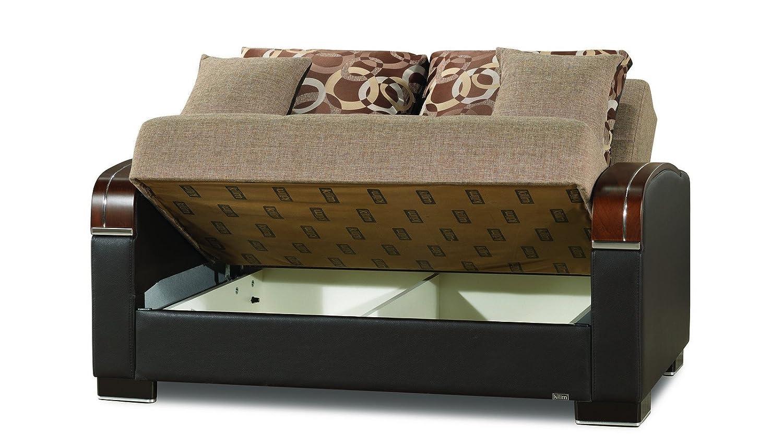 Tremendous Amazon Com Casamode Mobimax Loveseat Brown Polyester Inzonedesignstudio Interior Chair Design Inzonedesignstudiocom