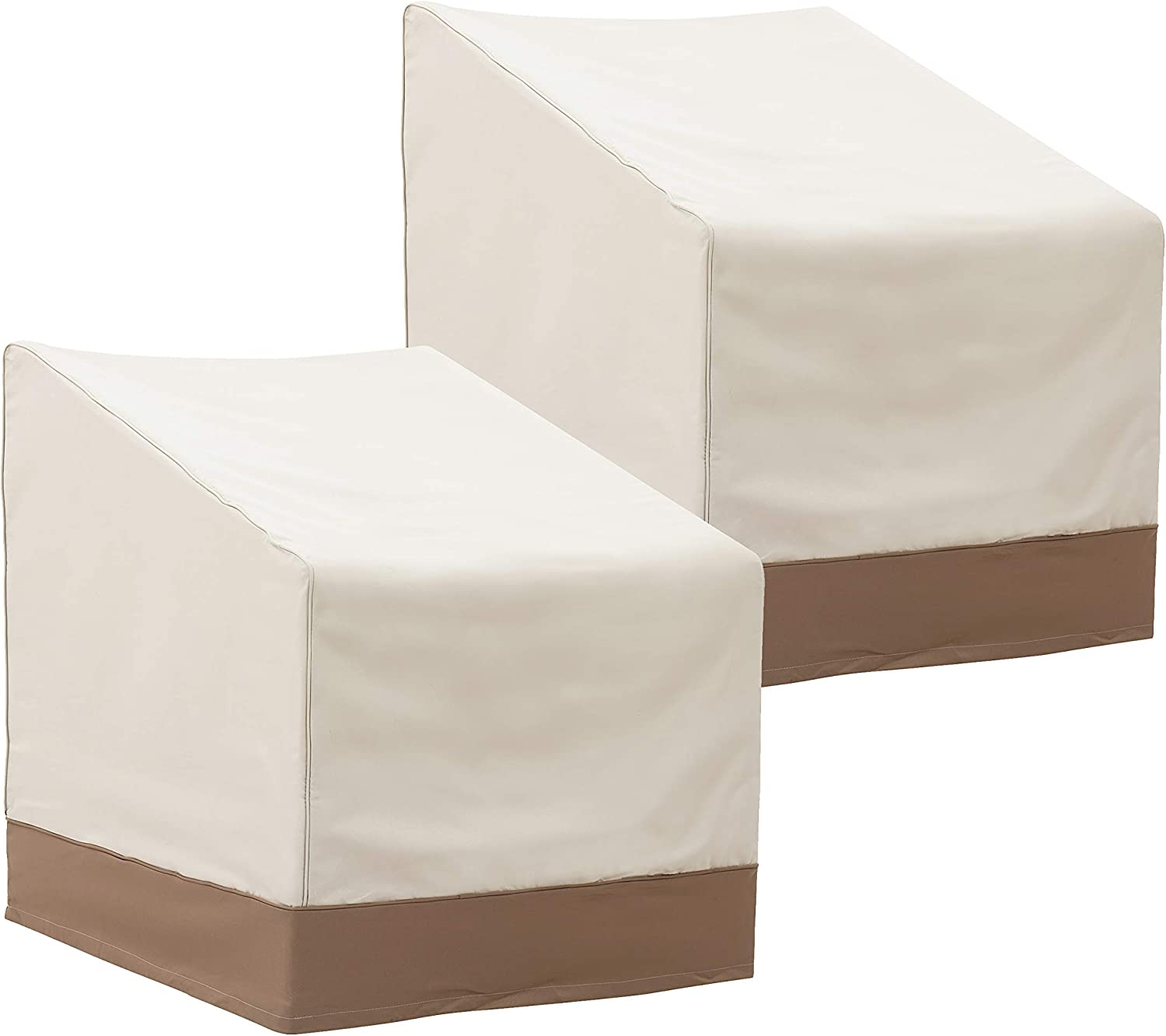 """Finnhomy Outdoor Patio Chair Cover Set of 2 Waterproof Large Patio Lounge/Club Chair Cover Heavy Duty Outdoor Furniture Cover Weather/Fade Resistant, 31.5"""" L X 33.5"""" D X 35.8"""" H"""