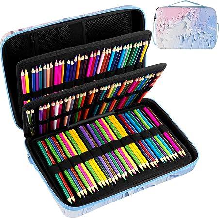 Grande Lápiz Estuche de almacenamiento - Contiene más de 240 lápices de colores, Se adapta para Zenacolor 72, 120 Lápices de Colores, Goege Bailey bolígrafos de gel - Estuche 24 lápices.[SOLO CASO]: