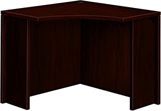 product image for HON 105810NN 10500 Series 18 by 36 by 29-1/2-Inch Curved Corner Workstation Desk, Mahogany