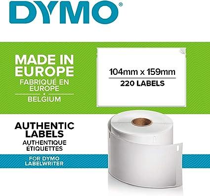 104mm x 159mm 220 Etichette per Rotolo Etichette compatibile per Dymo LabelWriter 4XL Etichettatrici Cartridges Kingdom 10 x S0904980