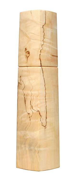 Woodandform Design Pfeffermühle Holz Unikat Kastanie gestockt ...