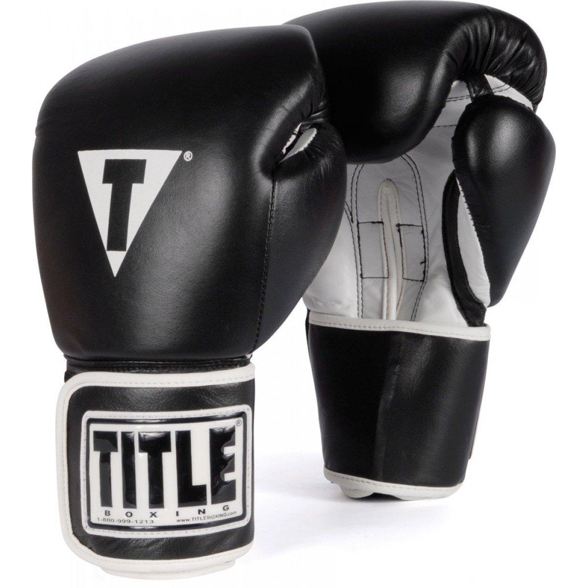 Black leather uniform gloves - Amazon Com Title Boxing Pro Style Leather Training Gloves Sports Outdoors