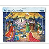 Manger with Kings and Shepherds Large Advent calendar Religious large advent calendar with white envelope Size: 245mm x 350mm