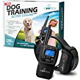 "Remote-Controlled Dog Shock Collar ""Lifetime Replacement Guarantee"" - 1200 FT Range - 4 Modes (Shock, Light, Vibration & Beep) Safe For All Size Dogs (10Lbs - 100Lbs) - Rechargeable & Waterproof."