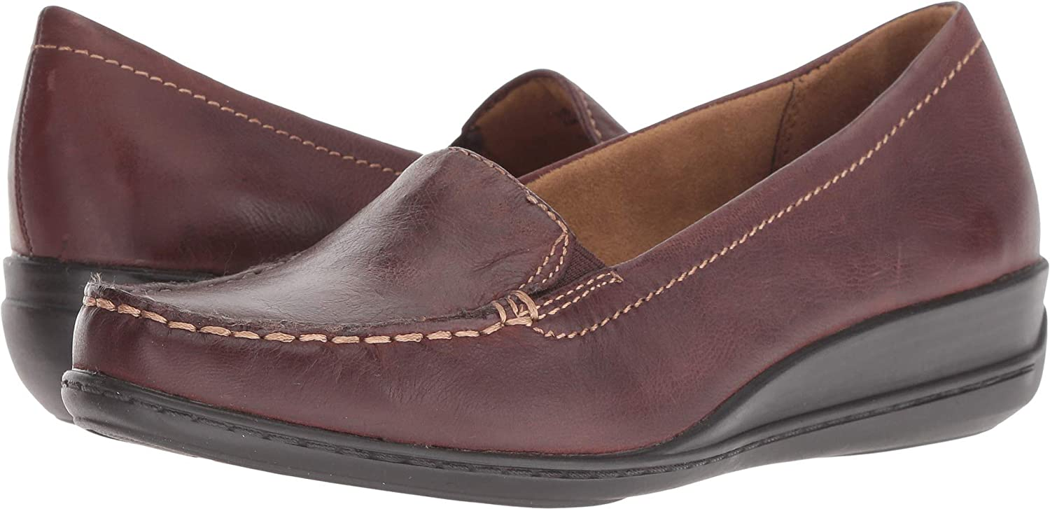 Bridal Brown Leather Natural Soul Womens Wilamina Loafer