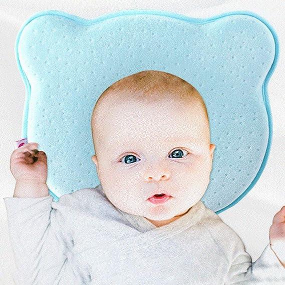 Ogquaton Almohada para bebé Suave Cabeza infantil Ortopédica Conformación Almohada Memoria Espuma Dormir Cojín Para prevenir la plagiocefalia Síndrome ...