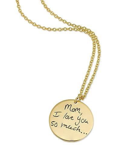 Amazon signature necklace signature pendant handwriting signature necklace signature pendant handwriting necklace personalized necklace memorial necklace gold aloadofball Gallery