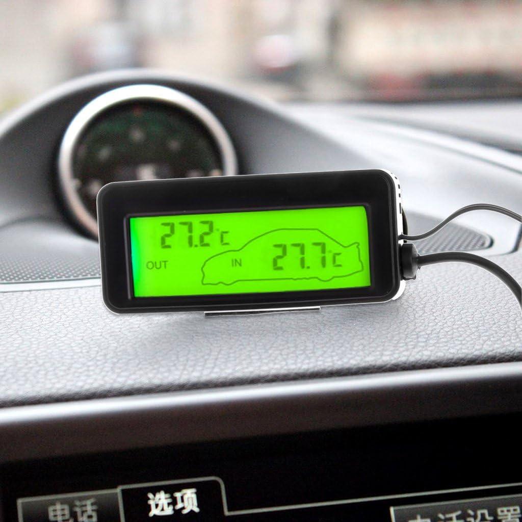 Tshopm Mini Digital Auto LCD Display Indoor Outdoor Thermometer 12V Fahrzeuge 1,5 M Kabel Sensor