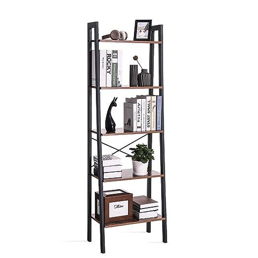 VASAGLE LLS45X - Estantería de pie con 5 estantes, con Marco de Metal, fácil Montaje, para salón, Dormitorio, Cocina, 56 x 172 x 34 cm: Amazon.es: Hogar