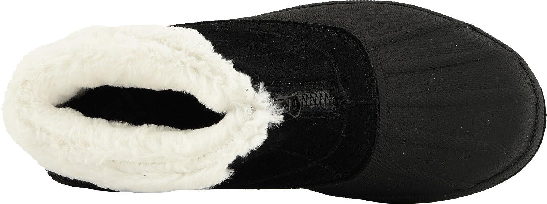 Propet Women's Lumi Ankle Zip Snow Boot B078YP485Q 9H 4E 4E US|Black/White