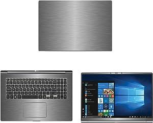 "decalrus - Protective Decal for LG Gram 17Z990 (17.3"" Screen) Laptop Titanium Texture Brushed Aluminum Skin case Cover wrap BAlgGram17_17Z990Titanium"