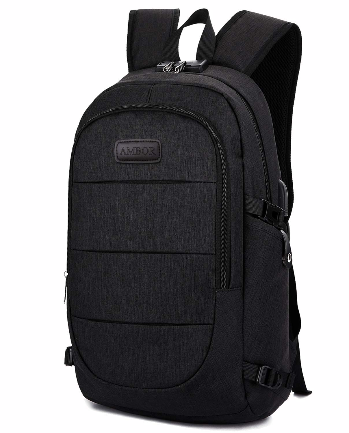 Travel Laptop Backpack, Anti Theft Business Waterproof Laptop Backpack with USB Charging Port and Headphone Interface fits Under 15.6