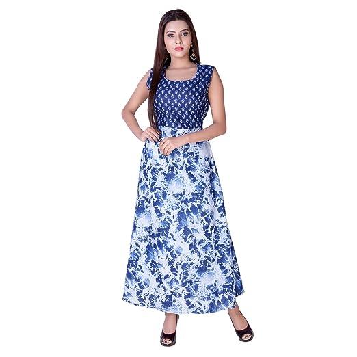 Amazon Com Handmade Cotton Blue Jaipuri Tie Dye Print One Piece