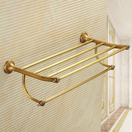 Toallero Perchero de cobre retro toalla de tocador del baño ...