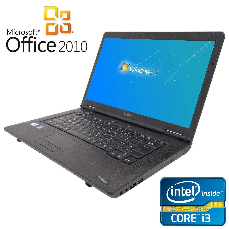 【Microsoft Office2010搭載】【Win 7搭載】TOSHIBA L40/新世代 Core i3 2.13GHz/メモリ4GB/HDD160GB/DVDドライブ/大画面15.6インチ/無線LAN搭載/中古ノートパソコン/   B01EWKQ8LI