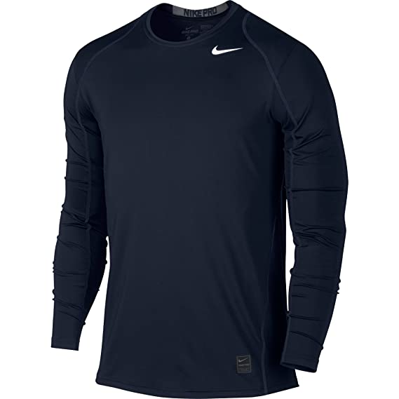 pretty nice 71a59 e4ed4 Nike Mens Pro Cool Long Sleeve Training Shirt Obsidian Dark Grey.White  703100-451 Size Small  Amazon.co.uk  Clothing