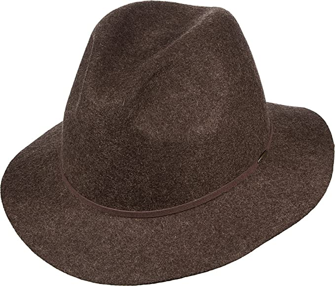 d800cb68 Image Unavailable. Image not available for. Color: Scala Classico Men's  Packable Raw Edge Safari Hat, Brown ...