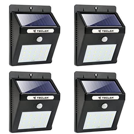 Teclan solar lights led wireless waterproof solar motion sensor teclan solar lights led wireless waterproof solar motion sensor light outdoor security night light aloadofball Image collections