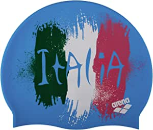 ARENA Silicona Print 2 Gorro De Natación, Hombre, Multicolor (Flag/Italy), Uni: Amazon.es: Ropa y accesorios