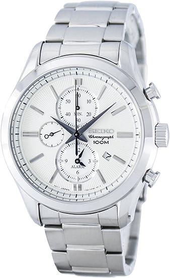 セイコー クロノ クオーツ メンズ 腕時計 SNAF63P1 ホワイトシルバー [並行輸入品]