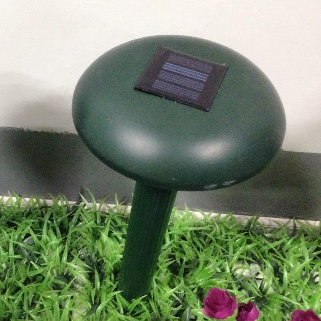 LouiseEvel215 Ultraschallwellen Solarbetriebener Outdoor-Garten-Nagetier-Schlangen-Repeller