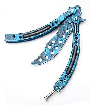 Mariposa cuchillo Halloween calavera acero inoxidable con ...