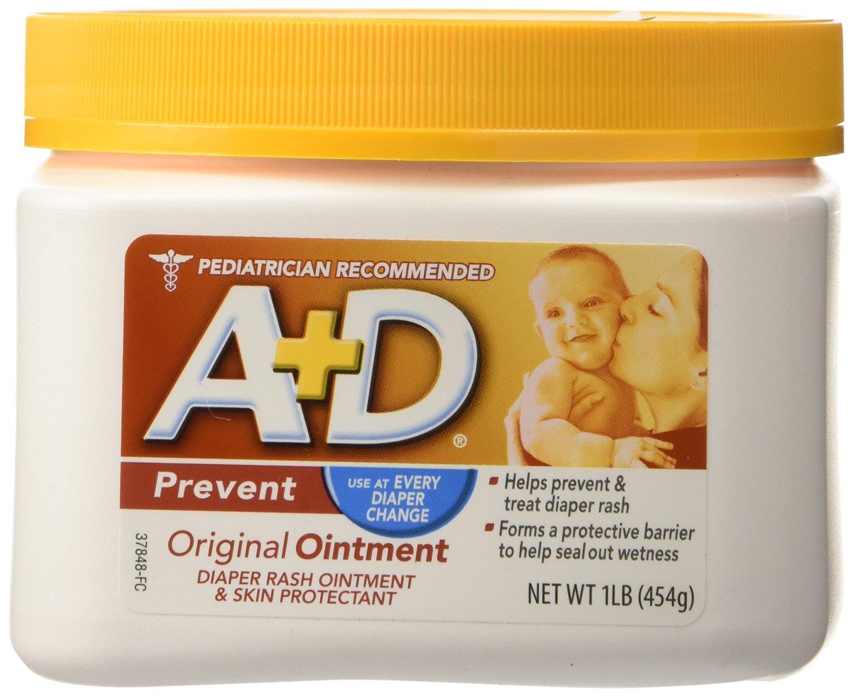 D&A A+D Original Ointment, Diaper Rash and All-Purpose Skincare Formula (454 g), 1 Pound Everready First Aid MERCK085217