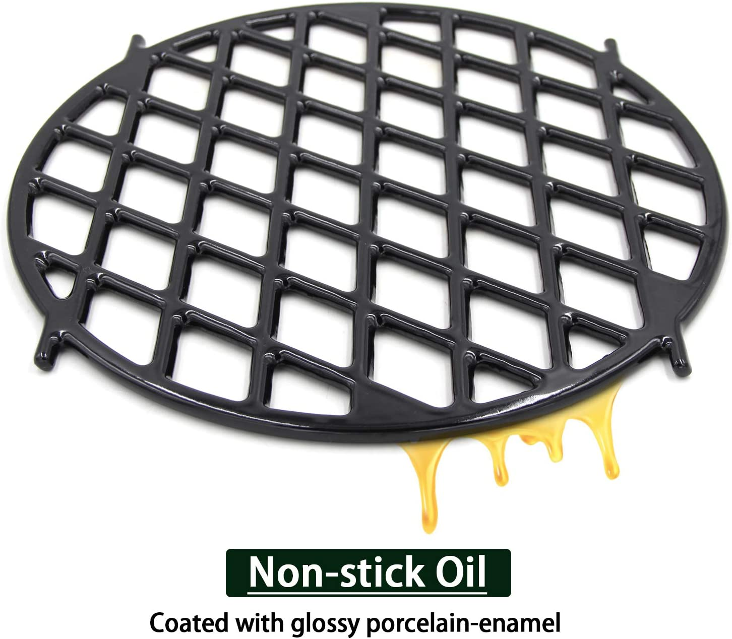 """VICOOL 5 Gourmet BBQ System Sear Grate for 5.5"""" Weber Charcoal  Grills,5 Inches Porcelain-Enameled Cast-Iron Round Cooking Grid Grill  Grate"""