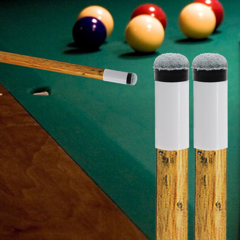 keesin 10 unidades 13 mm suave palo de billar (punteras atornilladas de repuesto de billar para billar: Amazon.es: Deportes y aire libre