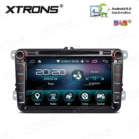 XTRONS - Reproductor de DVD estéreo de 8 Pulgadas para Coche con Pantalla táctil de 16