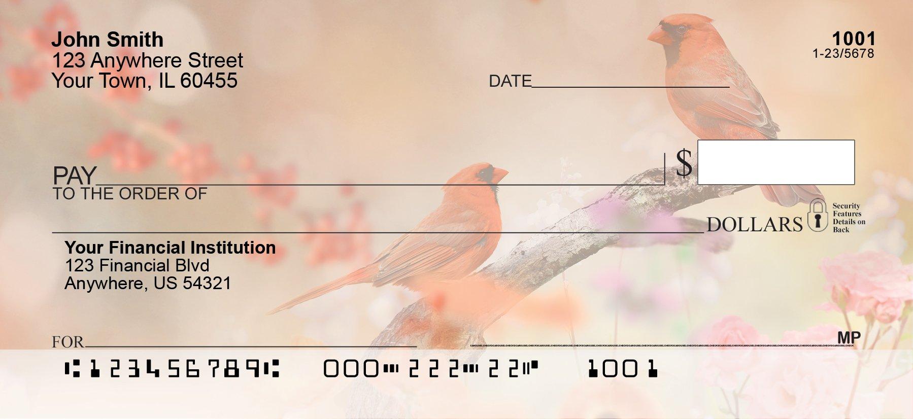 Tranquil Birds Personal Checks (1 Box Duplicates)