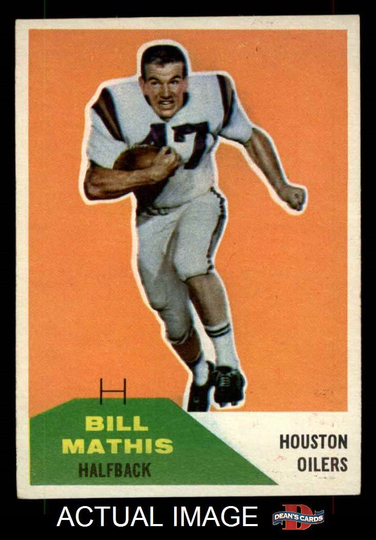 1960 Fleer # 99 Bill Mathis Houston Oilers (Football Card) Dean's Cards 8 - NM/MT Oilers 71pzD6FsY9L