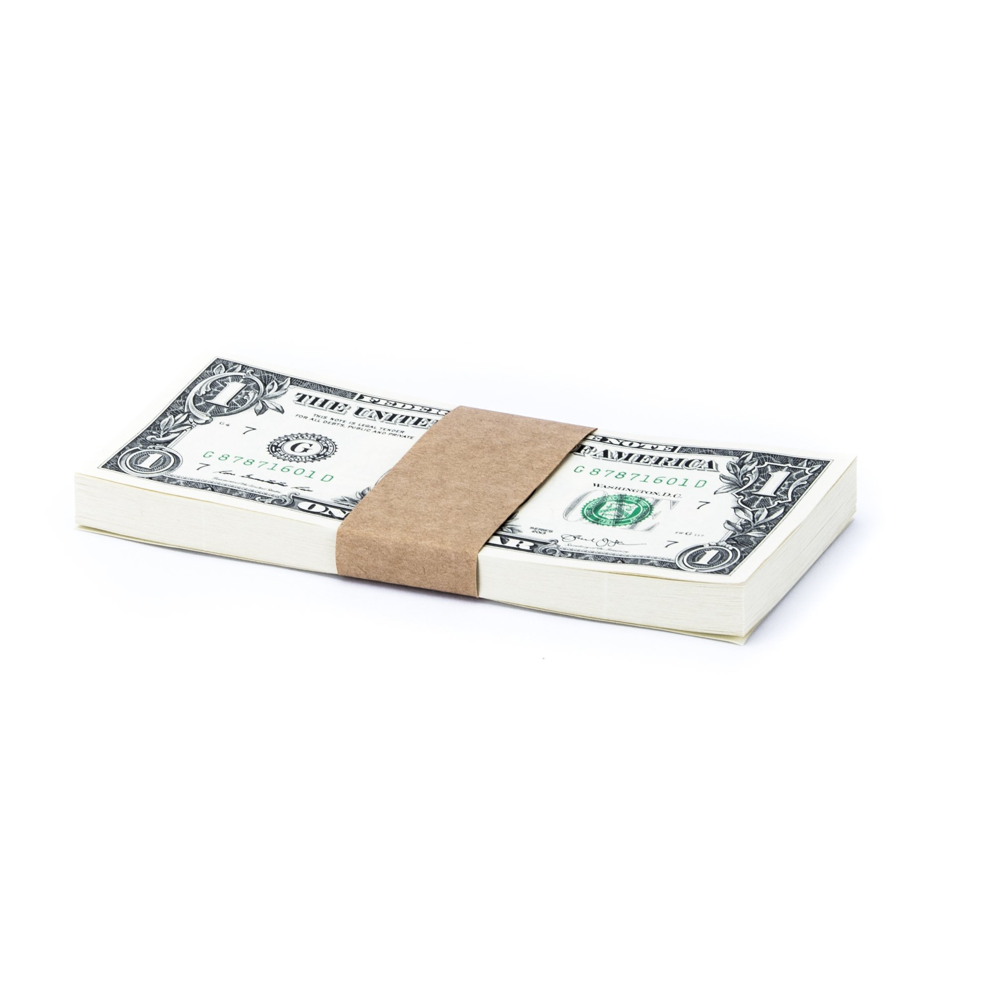 Natural Kraft Brown No Denomination Currency Band Bundles (5000 Bands) by Carousel Checks Inc.
