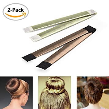 DIY 2Pcs Hair Knot Rings Hairdressers Styling Hairstyles Tools Donut ...