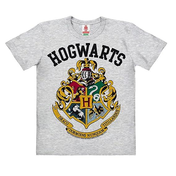 Logoshirt Harry Potter - Escudo - Hogwarts Logo Camiseta 100% Algodón ecológico para Niño -